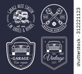 vector set of vintage sketched... | Shutterstock .eps vector #312221123