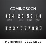 coming soon  flip countdown... | Shutterstock .eps vector #312242633