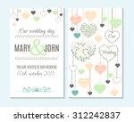 wedding invitation  thank you... | Shutterstock .eps vector #312242837