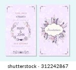 wedding invitation  thank you... | Shutterstock .eps vector #312242867