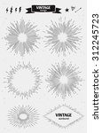 set of vintage sun  monochrome... | Shutterstock .eps vector #312245723
