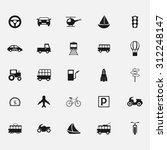 transportation icons | Shutterstock .eps vector #312248147