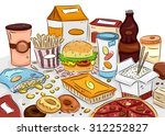 illustration of a bunch of junk ... | Shutterstock .eps vector #312252827