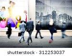 business people walking... | Shutterstock . vector #312253037
