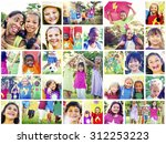 children family enjoyment... | Shutterstock . vector #312253223