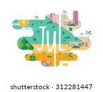 calendar collection   july flat ... | Shutterstock .eps vector #312281447