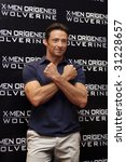 "MEXICO CITY-MAY 26 : Actor Hugh Jackman ""Logan/Wolverine"" attends the X-MEN ORIGINS: WOLVERINE PhotoCall & Press conference May 26, 2009 in Mexico City, Mexico. - stock photo"