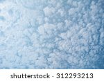 white clouds on blue sky... | Shutterstock . vector #312293213