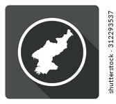 north korea map dark sign icon. ...