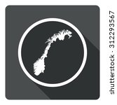 norway map dark sign icon....