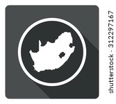 south africa map dark sign icon....