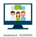 seo concept design  vector... | Shutterstock .eps vector #312302903