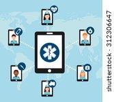 medicine on line design  vector ... | Shutterstock .eps vector #312306647