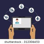 medicine on line design  vector ... | Shutterstock .eps vector #312306653