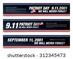 patriot day. september 11. we... | Shutterstock .eps vector #312345473