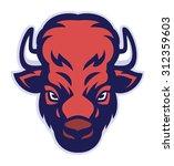 bison head mascot | Shutterstock .eps vector #312359603