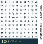 office icons vector set | Shutterstock .eps vector #312359807