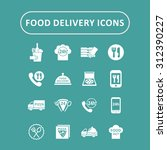 food delivery icons | Shutterstock .eps vector #312390227