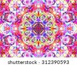 Kaleidoscopic Floral Pattern ...