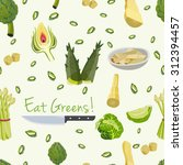 various vegetables icons set... | Shutterstock .eps vector #312394457
