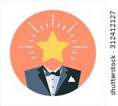 premium service theme  flat... | Shutterstock .eps vector #312412127
