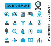 recruitment concept icons ... | Shutterstock .eps vector #312428057