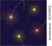 fireworks flash fires seamless... | Shutterstock . vector #31243903