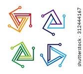 design triangle logo element.... | Shutterstock .eps vector #312444167