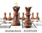 chess pieces on chess board... | Shutterstock . vector #31245103