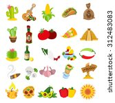 mexico and other things related ... | Shutterstock .eps vector #312483083