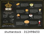 restaurant fast foods menu on... | Shutterstock .eps vector #312498653