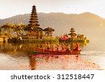 Beratan Lake In Bali Indonesia...