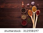 spices of the world  spices in... | Shutterstock . vector #312558197
