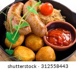 Grilled Pork Sausages With...