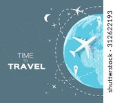 travel world map background in... | Shutterstock .eps vector #312622193