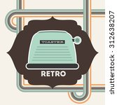 retro device design  vector... | Shutterstock .eps vector #312638207