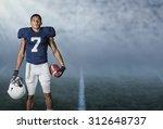 american football player...   Shutterstock . vector #312648737