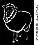 sheep logo. lamb. farm animals...   Shutterstock .eps vector #312649157