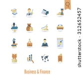 business and finance  flat icon ... | Shutterstock . vector #312652457