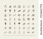 set of icons   vegetables. a... | Shutterstock .eps vector #312662753