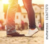 Couples Foots Stay Street Under - Fine Art prints