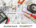 still life of electrical... | Shutterstock . vector #312685277