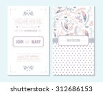 Wedding invitation, thank you card, save the date cards. Wedding invitation. | Shutterstock vector #312686153