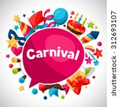 carnival show and party... | Shutterstock .eps vector #312693107