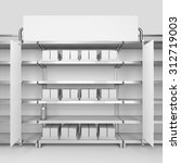 supermarket shelf with banner...   Shutterstock . vector #312719003