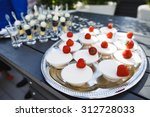 wedding snack  sweets  cakes... | Shutterstock . vector #312728033