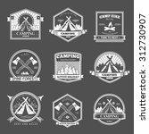 retro vector vintage camp label ... | Shutterstock .eps vector #312730907