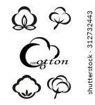 icons indicating the cotton or... | Shutterstock .eps vector #312732443