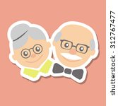 couple of older people.... | Shutterstock .eps vector #312767477