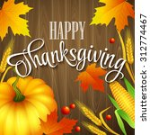 hand drawn thanksgiving... | Shutterstock .eps vector #312774467
